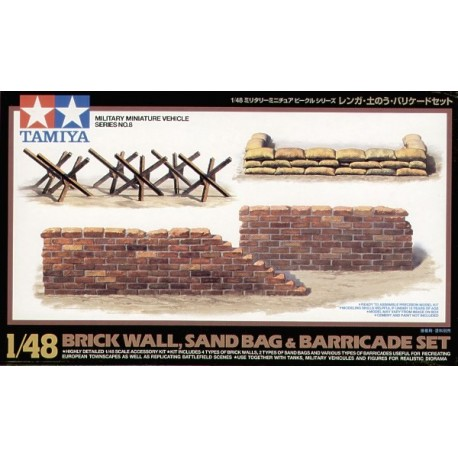 Brick Wall, Sand Bag & Barricades