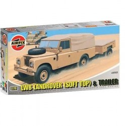 LWB Soft Top Land Rover w/Trailer